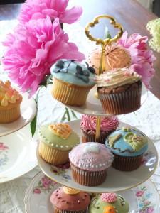Cupcakes auf Etageren