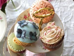 cupcakes auf etagere