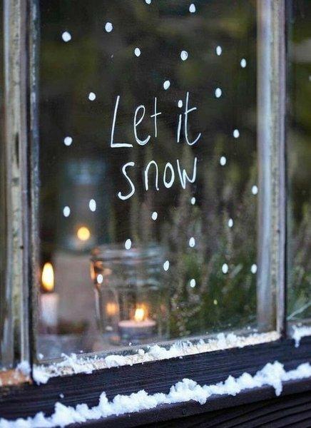 Adventsfenster-Deko - Letitsnow