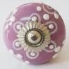Möbelknöpfe/Porzellanknöpfe rund -  lila - 1