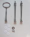 Etagere Metall-Stangen - Oval silber matt