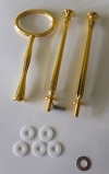 Etagere Metall-Stangen - Oval gold