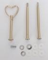 Etagere Metall-Stangen - Herz gold matt