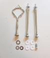 Etagere Metall-Stangen - Krone silber robust