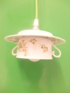 Tassenlampe Blumenmuster grün