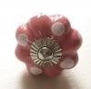 Möbelknöpfe/Porzellanknöpfe blumenform - rosé gepunktet - 21