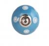 Möbelknöpfe/Porzellanknöpfe Punkte - blau/weiss - 14