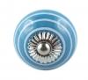 Möbelknöpfe/Porzellanknöpfe gestreift blau - 2