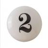Möbelknöpfe/Porzellanknöpfe  -Shabby Zahl 2 - 34