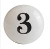 Möbelknöpfe/Porzellanknöpfe  -Shabby Zahl 3 - 34