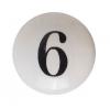 Möbelknöpfe/Porzellanknöpfe  -Shabby Zahl 6 - 34