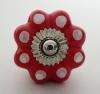 Möbelknöpfe/Porzellanknöpfe Punkte - rot - 23