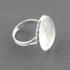 Ring  mit Cabochon - silber