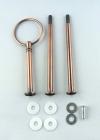 Etagere Metall-Stangen - Rund kupfer