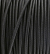 Textilkabel schwarz, 2-adrig rund, 2x0,75